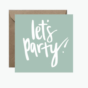 ROSIE LOU GREETING CARD - LET'S PARTY