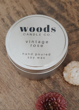 Load image into Gallery viewer, WOODS CANDLE CO. - VINTAGE ROSE