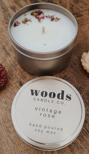 WOODS CANDLE CO. - VINTAGE ROSE