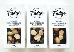 GOURMET FUDGE - BELGIAN DARK CHOCOLATE MACADAMIA