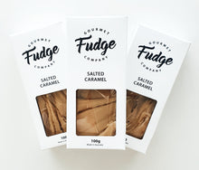 Load image into Gallery viewer, Salted Caramel ,Smooth and creamy fudge made with the finest couverture Belgian chocolate and Dutch cocoa.