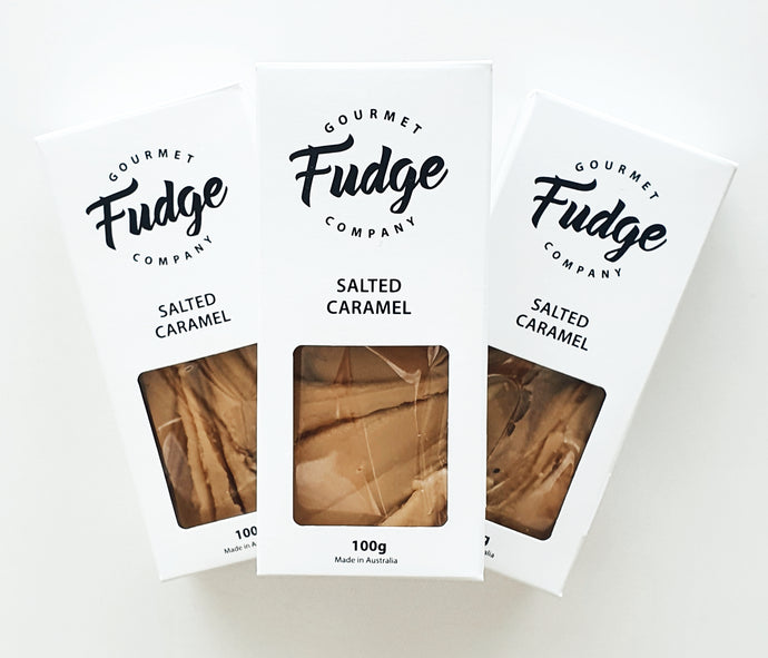 Salted Caramel ,Smooth and creamy fudge made with the finest couverture Belgian chocolate and Dutch cocoa.