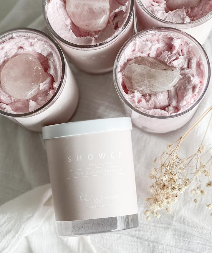 BLISS ME HOME - ROSE QUARTZ INFUSED SHOWER SCRUB
