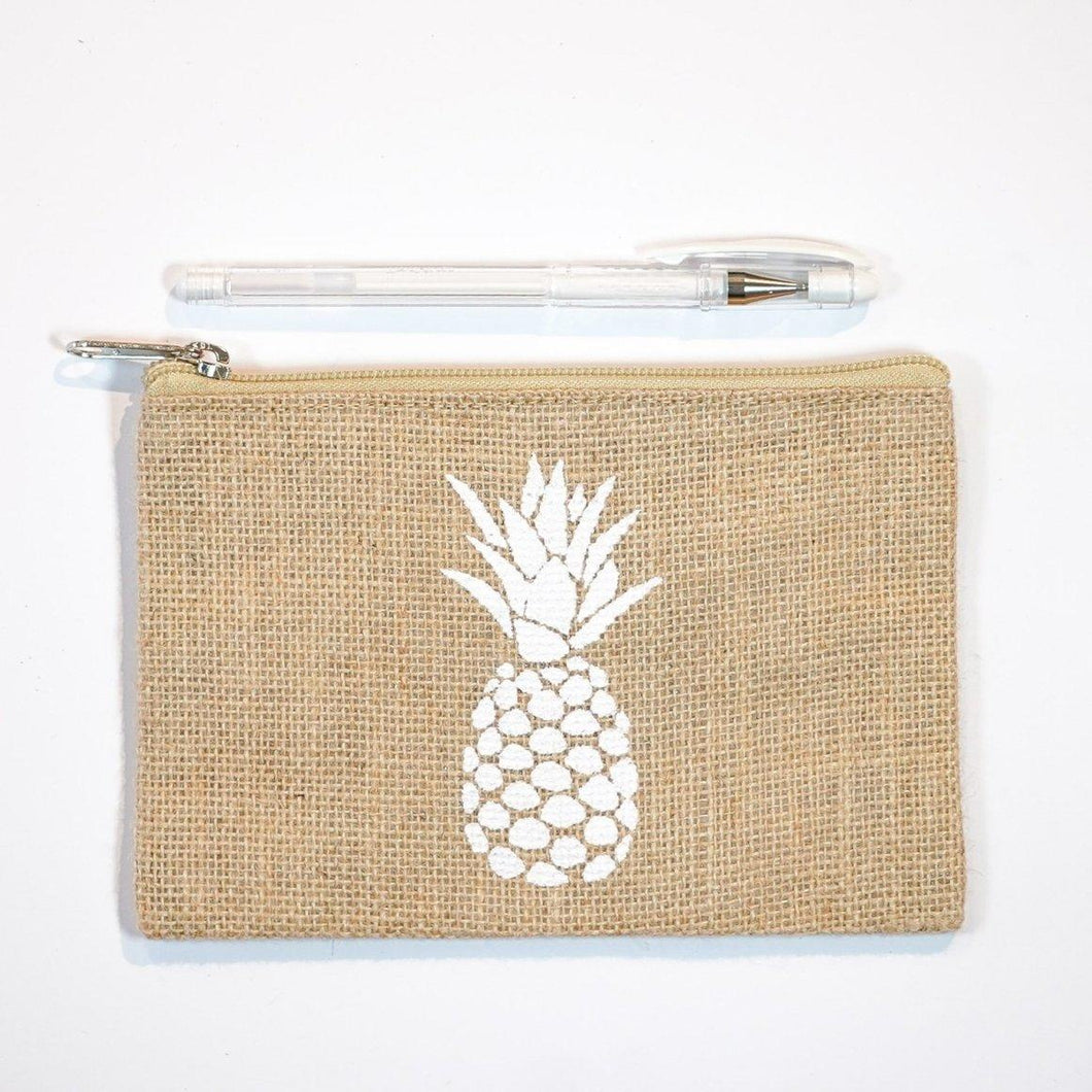 PINEAPPLE HEAD ZIP POUCH