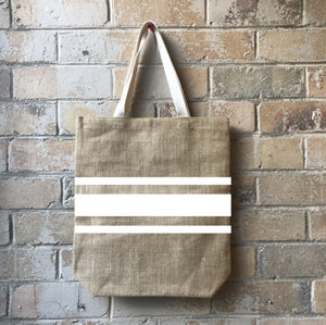 STRIPED JUTE BAG