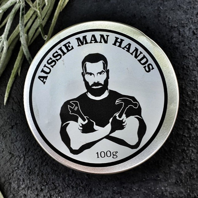 Aussie Man Hands Naturally crafted to protect the hands of traddies