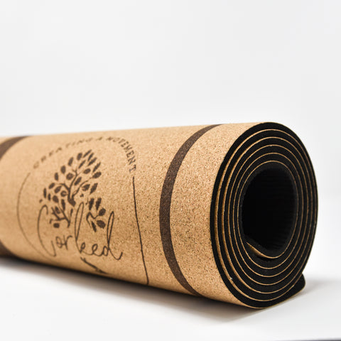 Recycled Cork Tree Yoga Mat