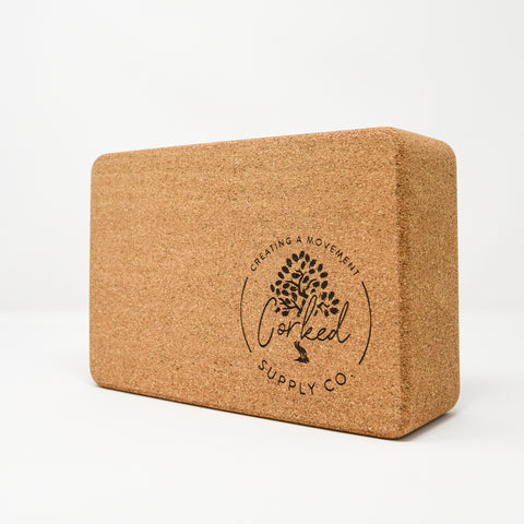 Image of Recycled Cork Yoga Block