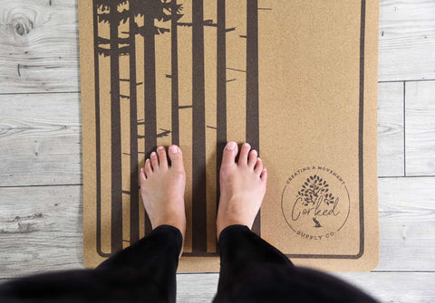Image of Recycled Cork Tree Yoga Mat