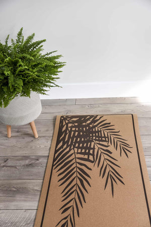 Recycled Cork Fern Yoga Mat