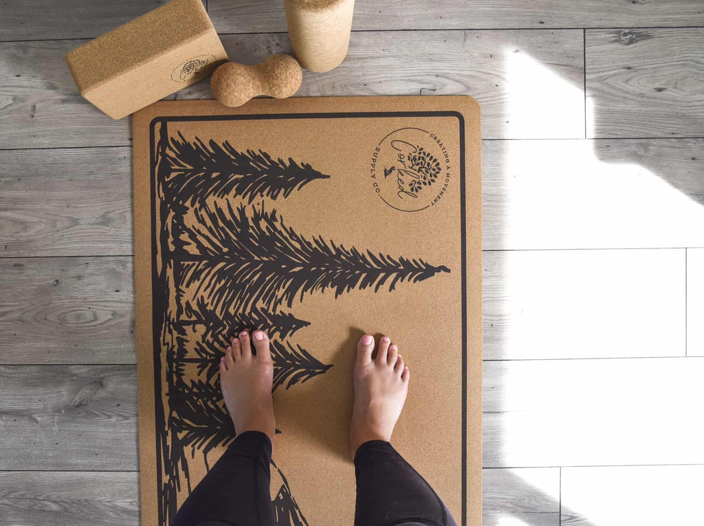 Recycled Cork Mountain Yoga Mat