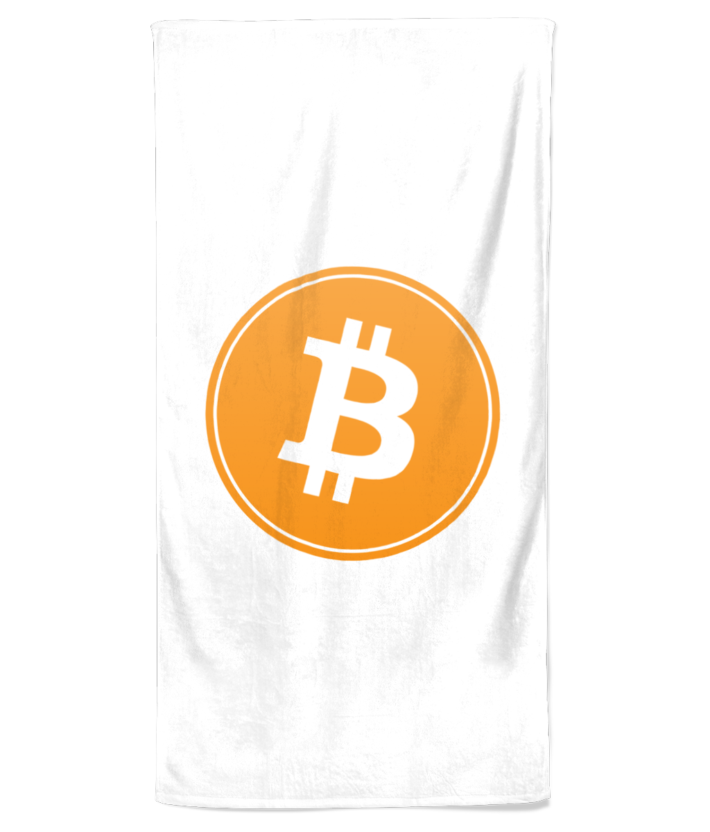 Bitcoin Beach Towel (White)