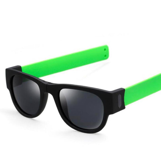 Slap wristband sun glasses