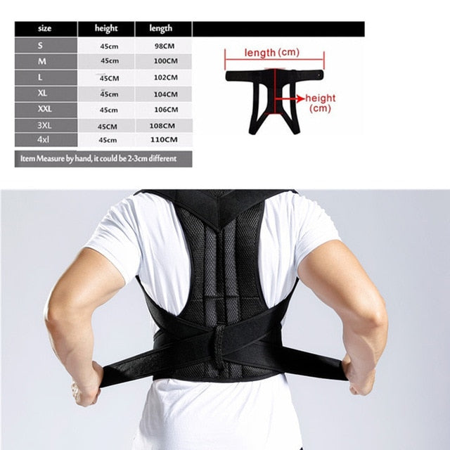 Shoulder Support Adjustable Back Pain Support Posture Corrector Brace