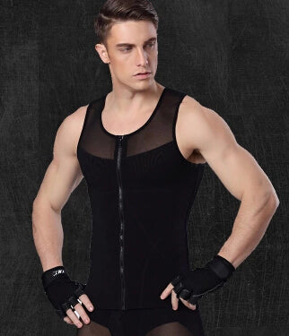 Gynecomastia Corset For Man Slimming Waist Trimmer Zipper