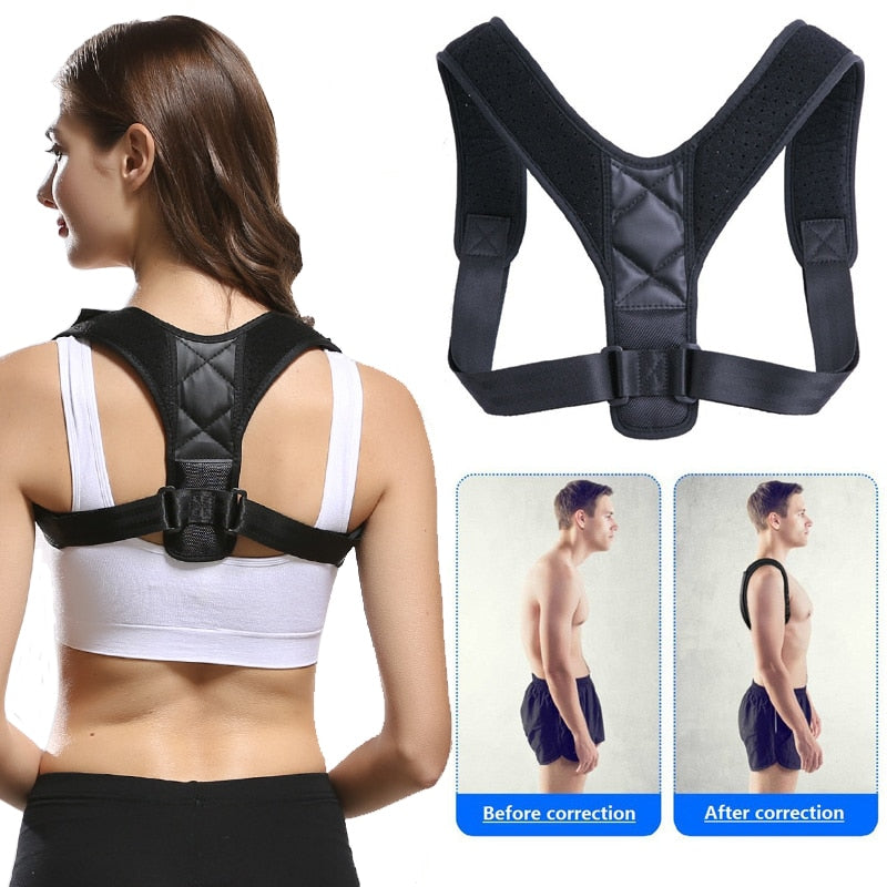 Brace Support Belt Adjustable Back Posture Corrector Orthopedic Clavicle Spine Back