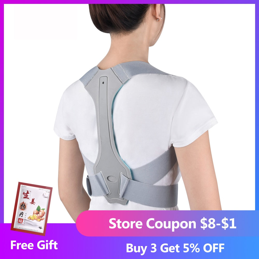 Men Women Adjustable Back Posture Corrector Back Pain Relief Spine Waist Straps