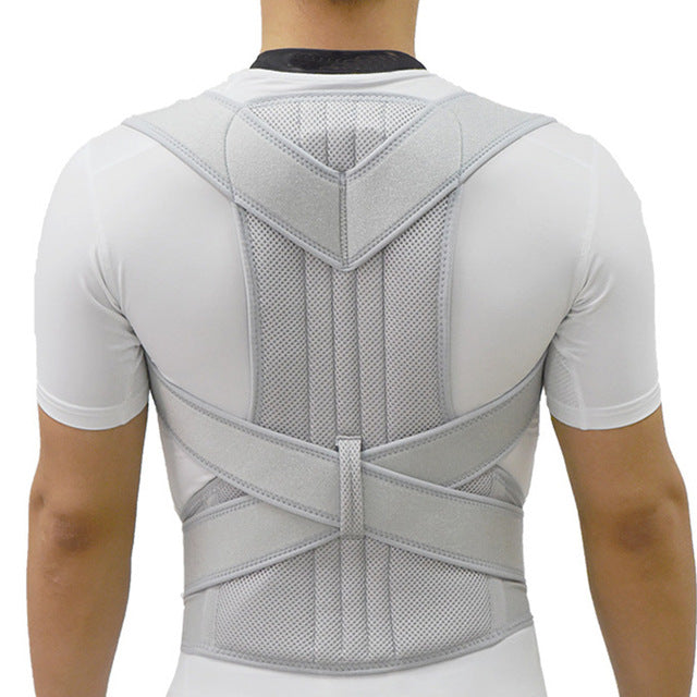 Silver Posture Corrector Scoliosis Back Brace Spine Therapy