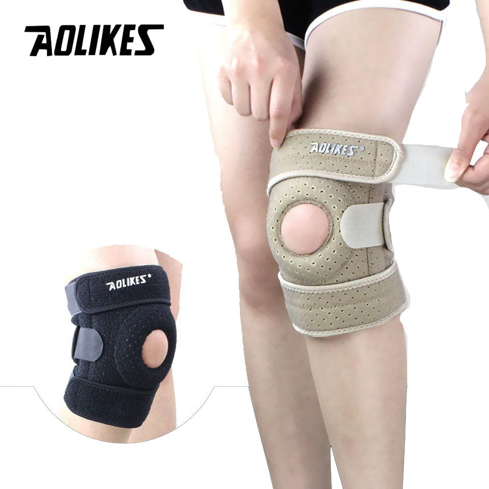 AOLIKES 1PCS Adjustable Sports Training Elastic Knee Support Brace