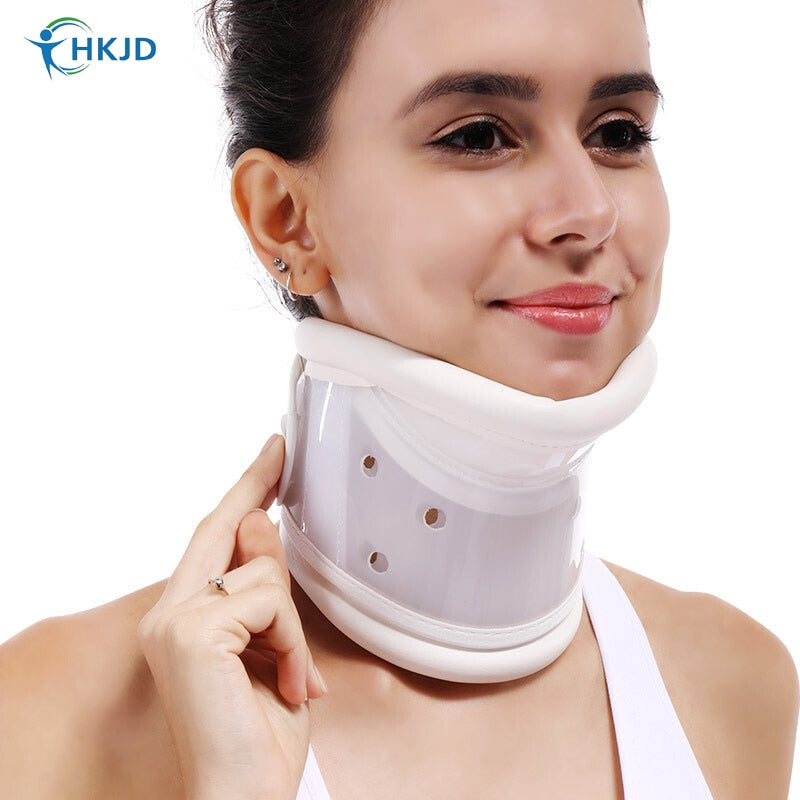 Medical Cervical Neck Collar with Chin Support for Stiff Neck Pain Relief