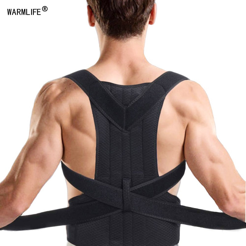 Brace Shoulder Support Back Care Posture Corrector Adjustable Clavicle Strap
