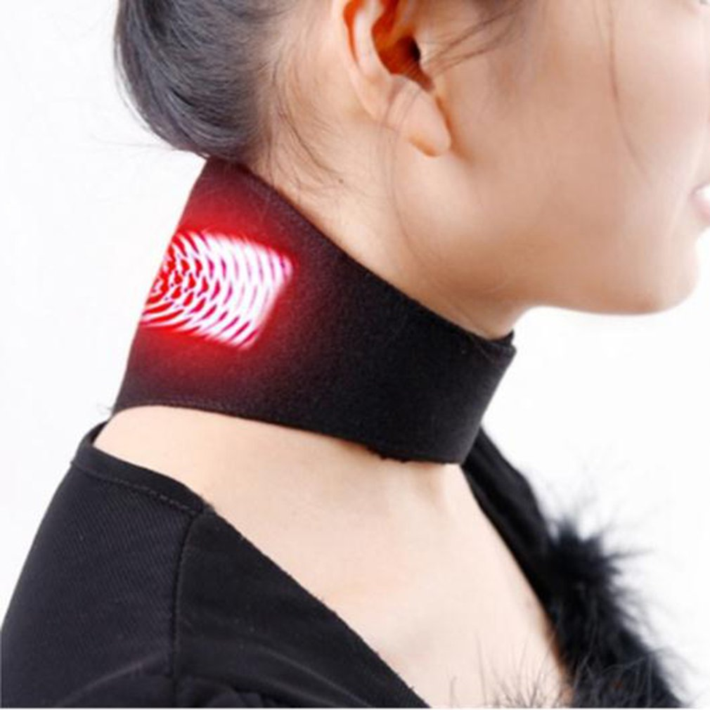 Neck Belt Tourmaline Self Heating Magnetic Therapy Neck Wrap Brace