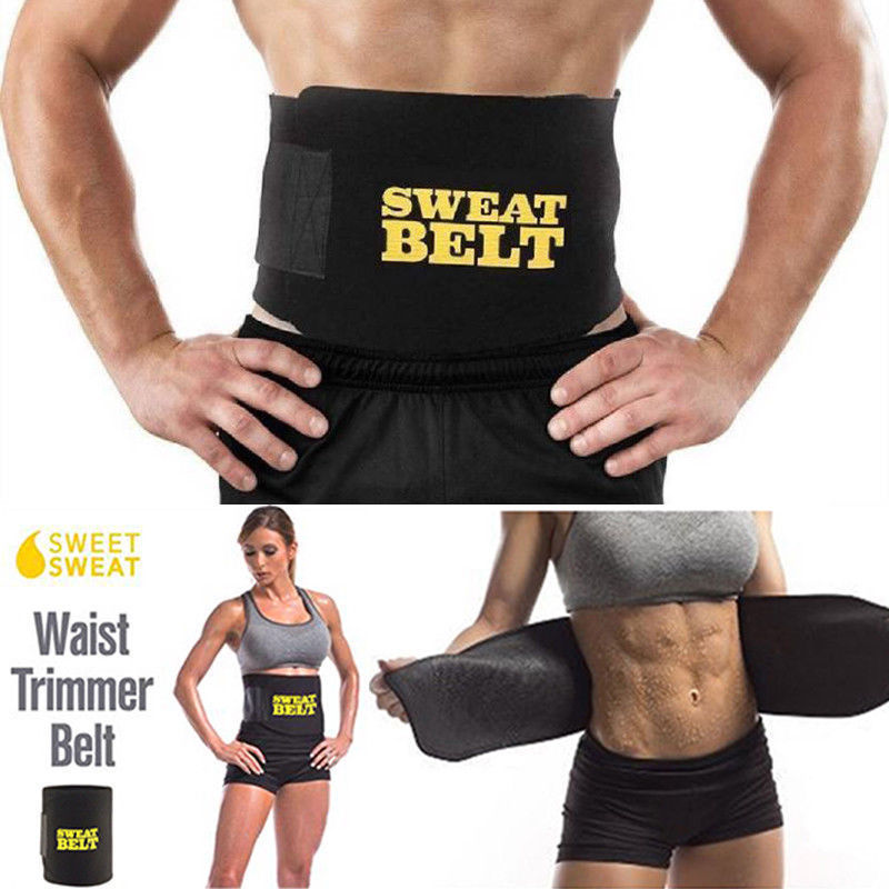Waist Trainer Belt Women Men Body Shaper Suit Sweat Belt