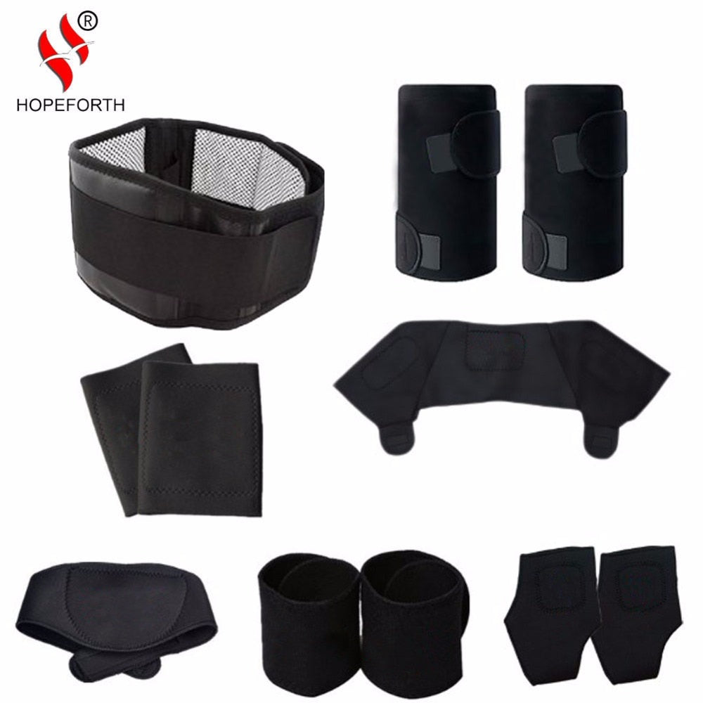 11pcs/set Tourmaline Self-heating Belt Magnetic Therapy Neck Shoulder Posture Correcter Knee Support Brace