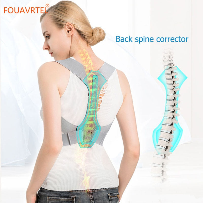FOUAVRTEL Adjustable Back Posture Corrector Clavicle Spine Back Pain Reliever