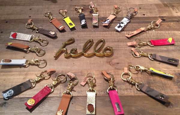 Leather Emoji Key Fobs