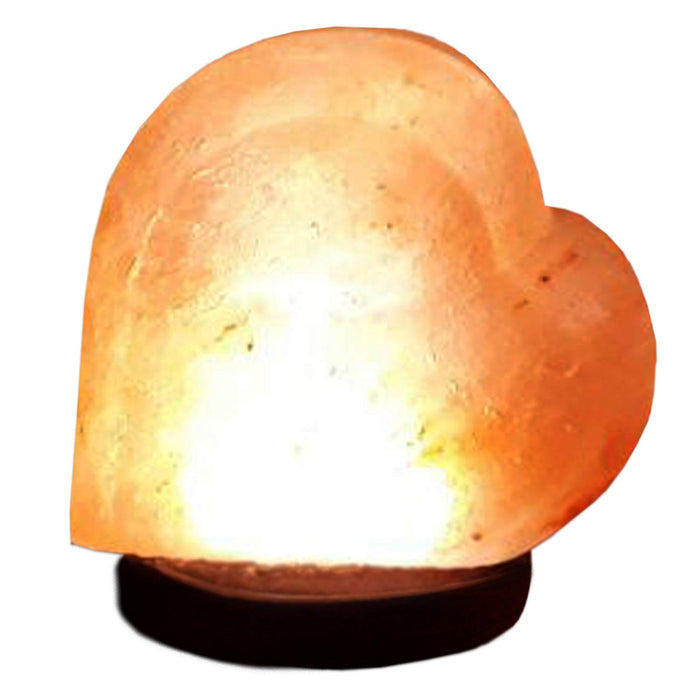 Natural Salt Lamp Heart