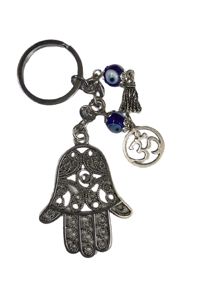 EVIL EYE HAMSA HAND KEY RING