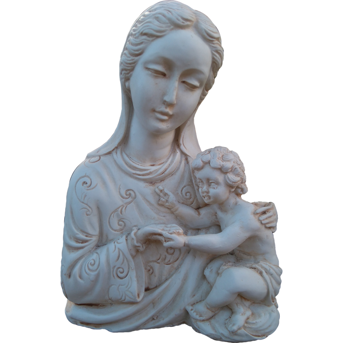 THE MADONNA AND CHILD 19 CM BUST