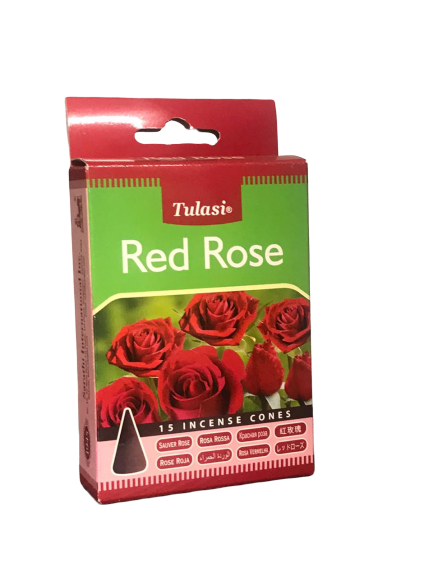 Red Rose Tulasi Incense Cones