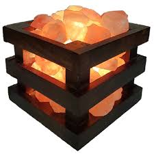 Natural Wood Salt Lamp