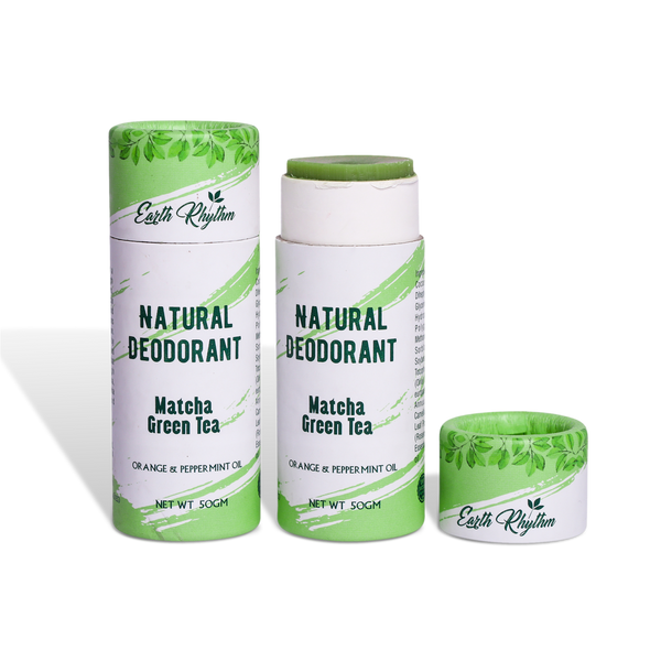 MATCHA GREEN TEA EXTRACTS NATURAL DEODORANT - Earth Rhythm - Nature Approved