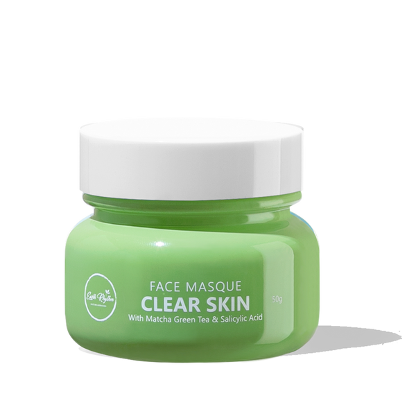 CLEAR SKIN FACE MASQUE WITH MATCHA GREEN TEA & SALICYLIC ACID - Earth Rhythm - Nature Approved