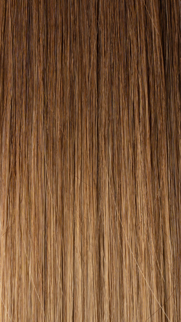 Clip In Hair Extensions: Front Volumiser #T4 B24 Medium Balayage