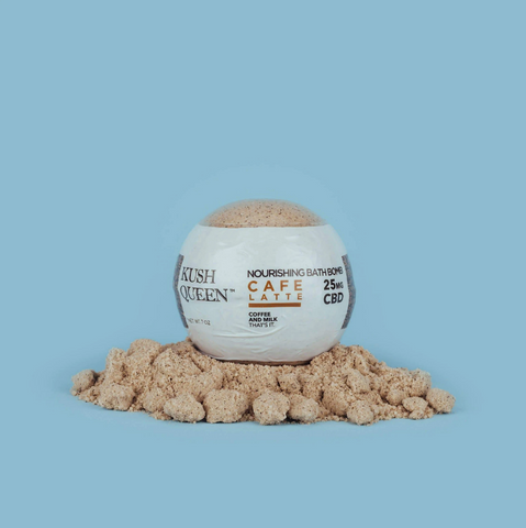 Cafe Latte Kush Queen CBD Bath Bombs
