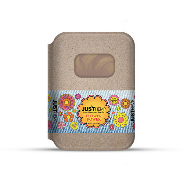 JustCBD Store Flower Power Soap Bar