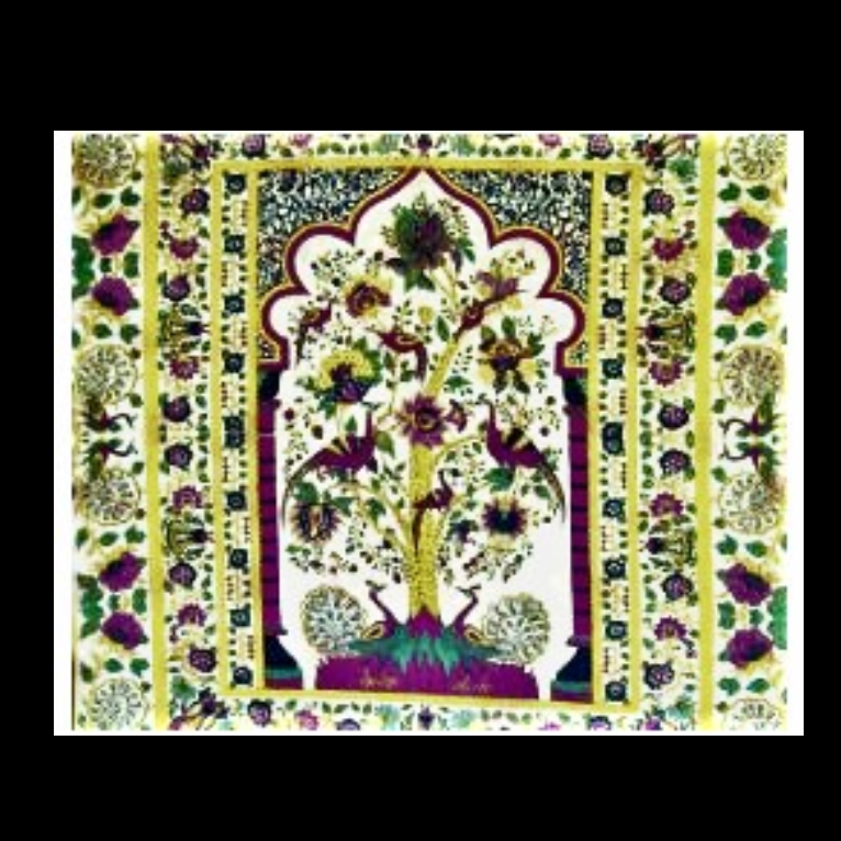 Peacock Tree of Life Tapestry
