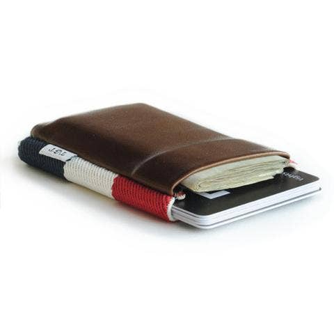 Pocket Size Red, White & Blue Wallet