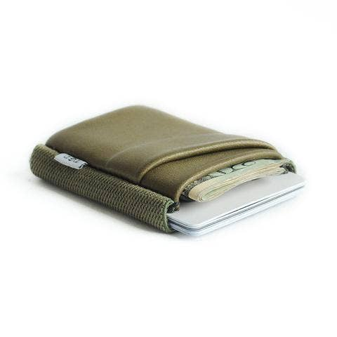Pocket Size Olive Green Wallet
