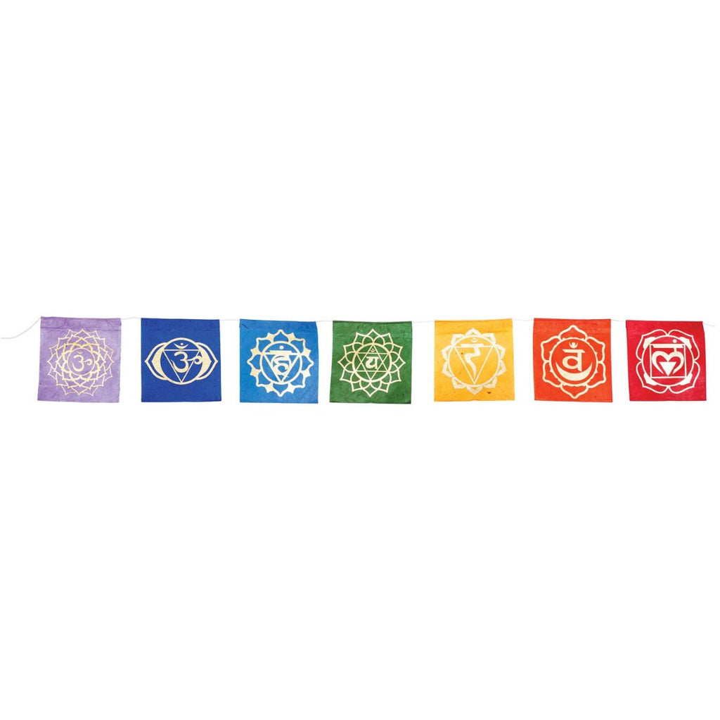 "X-Small Prayer Flags ""7 Chakras"""