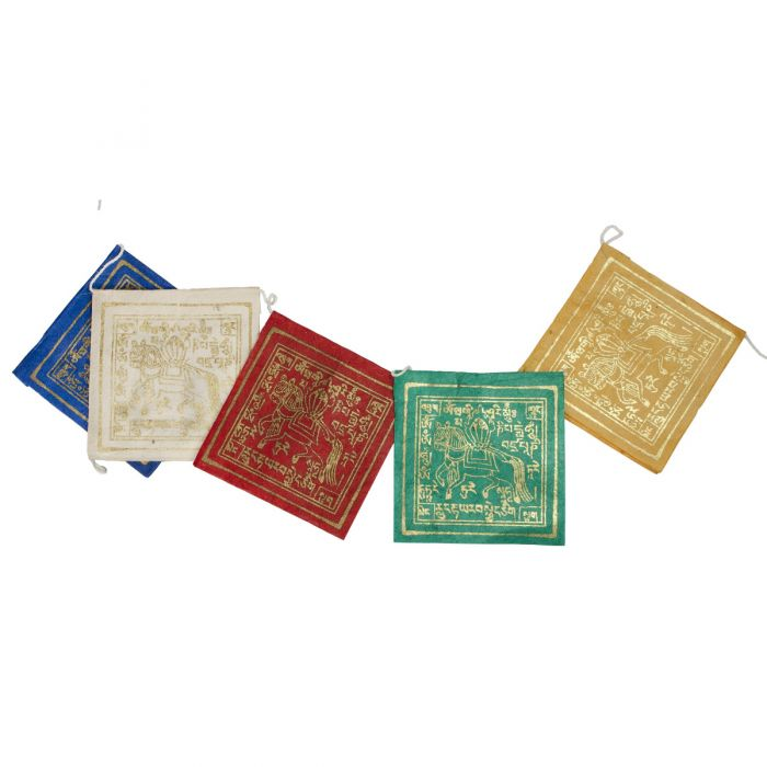 "Miniature Tibetan Prayer Flag ""Windhorse Signs"""