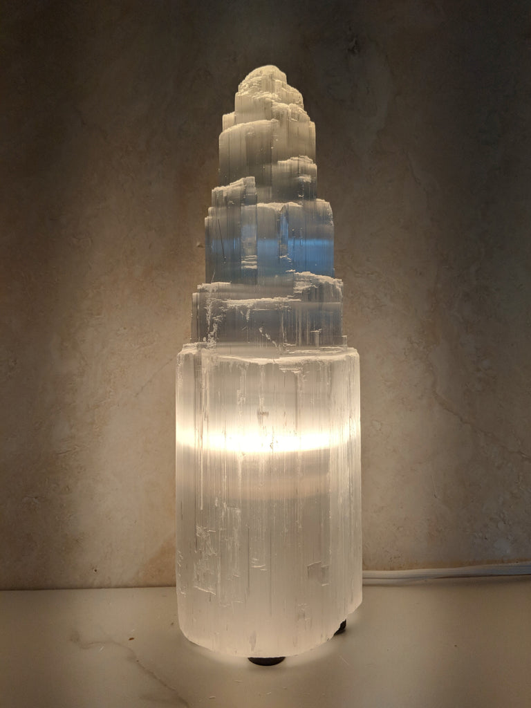 "10""  Selenite Lamp"