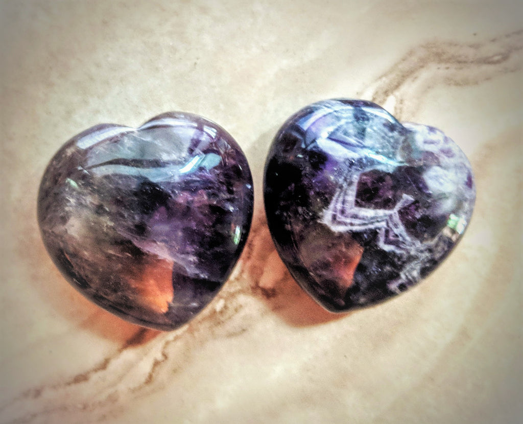 Heart Shaped Crystal - Amethyst