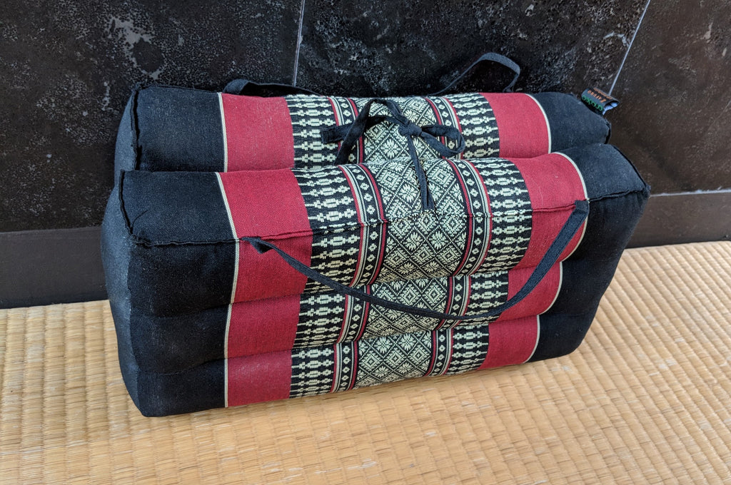 Black & Red Rectangular Cushion (Large)