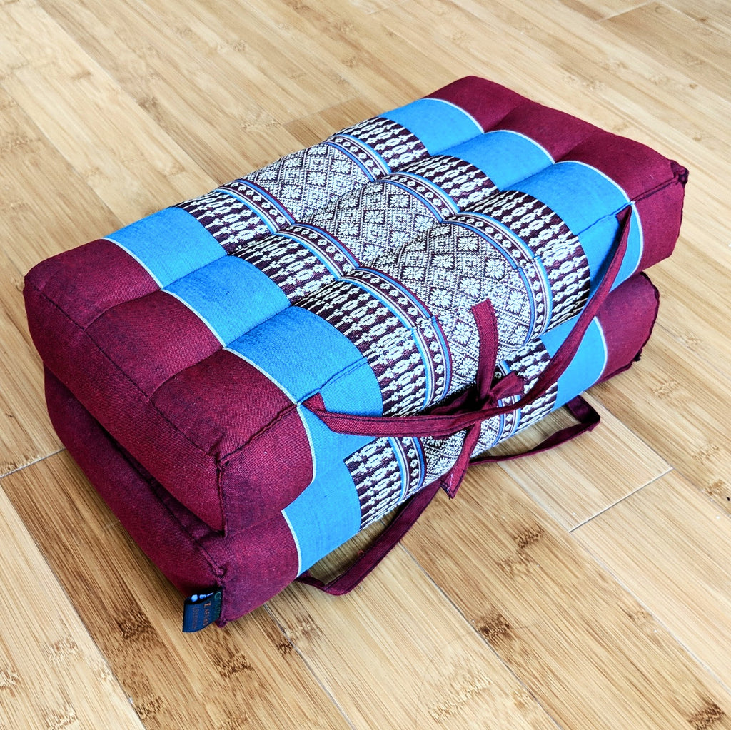 Red  & Turquoise Rectangular Cushion (Large)