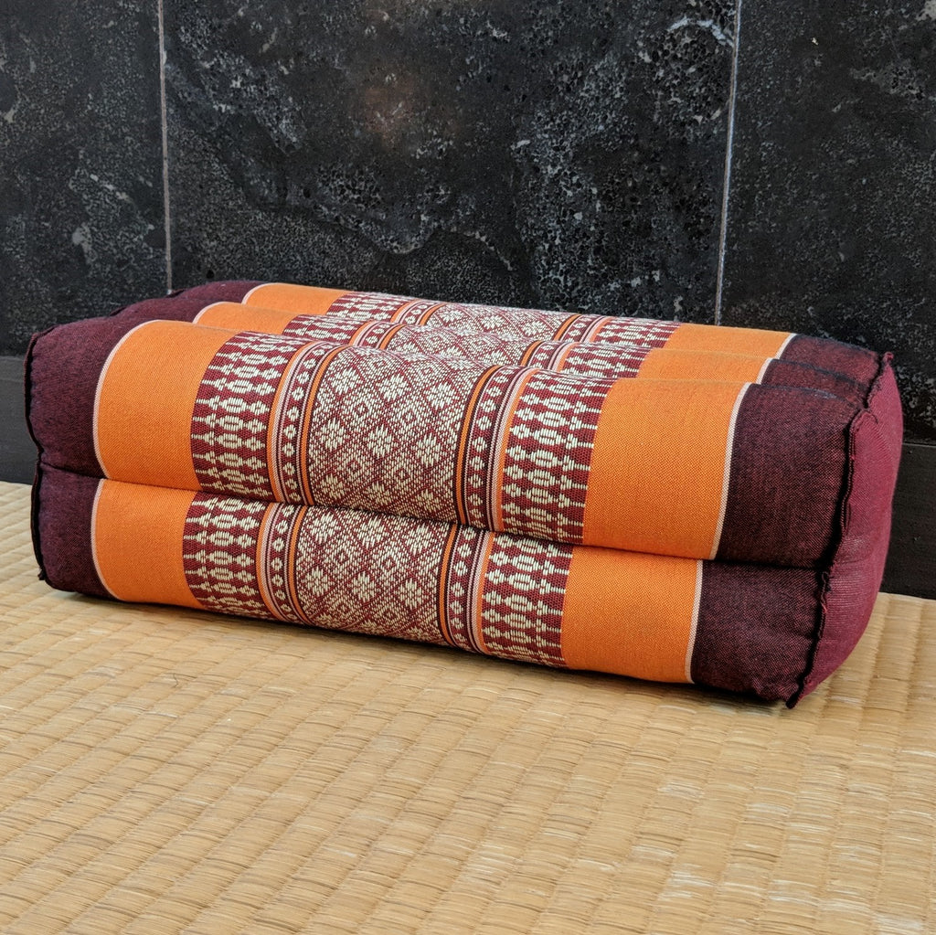 Orange & Maroon Rectangle Cushion-Standard